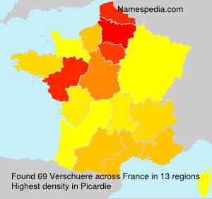 Surname Verschuere in France