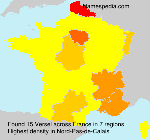 Surname Versel in France