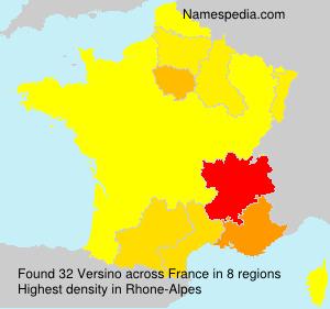 Familiennamen Versino - France