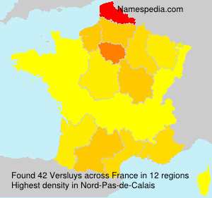 Surname Versluys in France