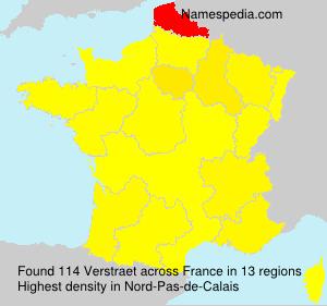 Surname Verstraet in France