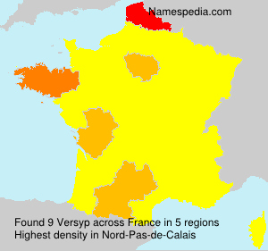 Surname Versyp in France