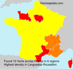 Surname Verta in France