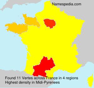 Surname Vertes in France