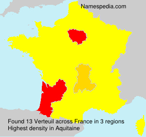 Surname Verteuil in France