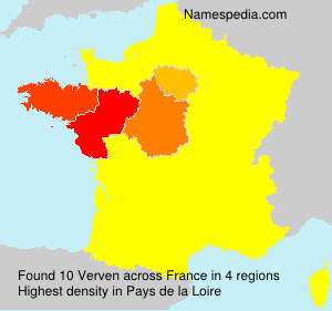 Surname Verven in France