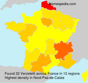 Surname Verzeletti in France