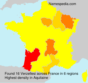 Surname Verzellesi in France