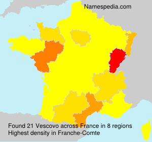 Surname Vescovo in France
