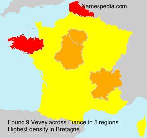 Surname Vevey in France
