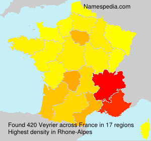 Surname Veyrier in France