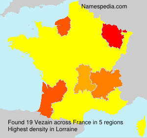 Surname Vezain in France