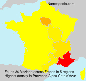 Surname Veziano in France