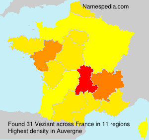 Surname Veziant in France