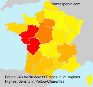 Surname Vezin in France