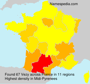 Surname Vezy in France