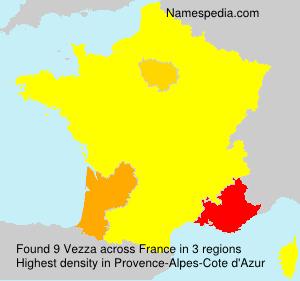 Surname Vezza in France