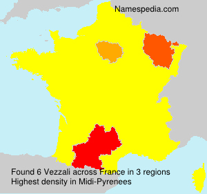 Surname Vezzali in France