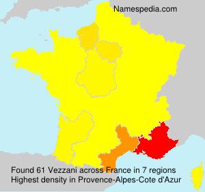 Surname Vezzani in France
