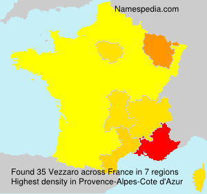 Surname Vezzaro in France