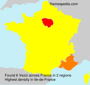 Surname Vezzi in France