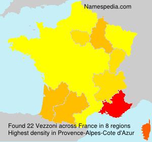 Surname Vezzoni in France