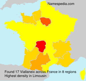 Surname Viallaneix in France
