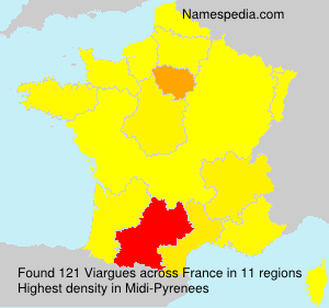 Surname Viargues in France