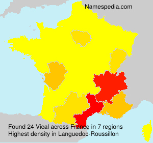 Surname Vical in France
