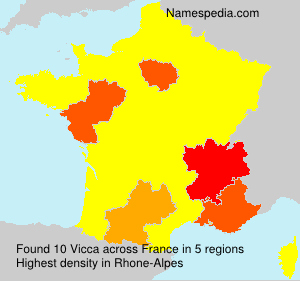 Surname Vicca in France