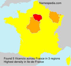 Surname Vicencio in France