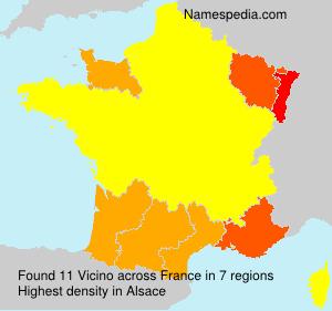 Surname Vicino in France