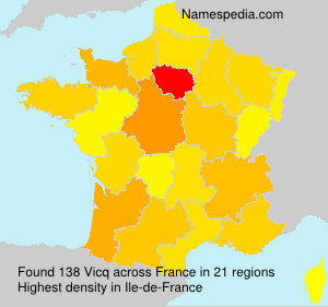Surname Vicq in France