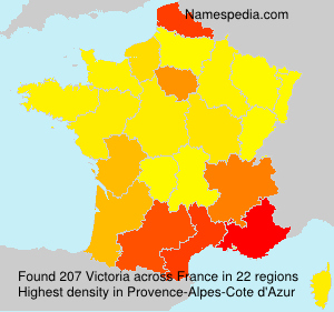 Surname Victoria in France