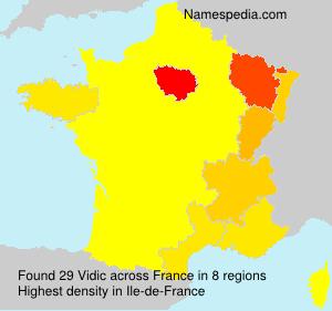 Surname Vidic in France