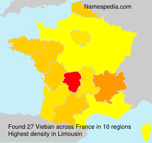 Surname Vieban in France