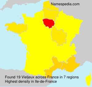 Surname Vieljeux in France