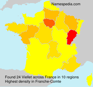 Surname Viellet in France