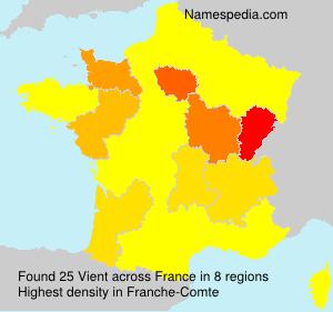 Familiennamen Vient - France