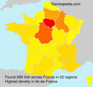 Familiennamen Viet - France