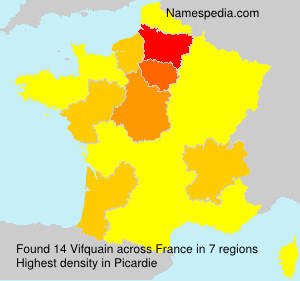 Familiennamen Vifquain - France