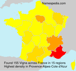 Surname Vigna in France