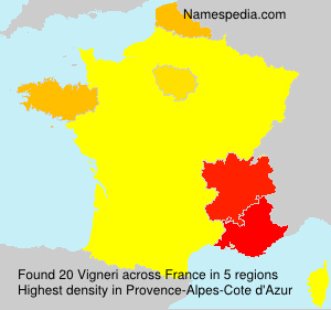 Surname Vigneri in France