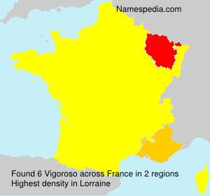 Surname Vigoroso in France