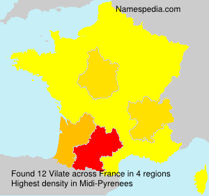 Surname Vilate in France