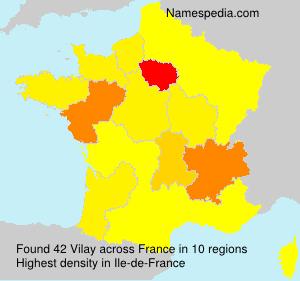 Surname Vilay in France