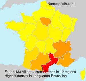 Familiennamen Villaret - France