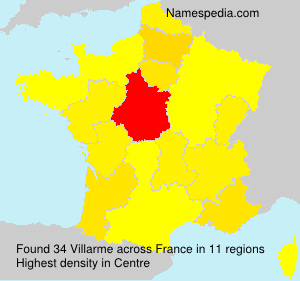 Surname Villarme in France