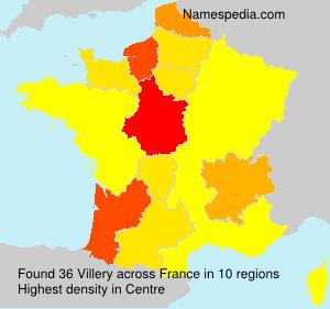 Familiennamen Villery - France