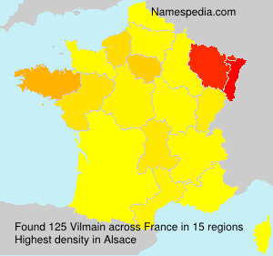 Familiennamen Vilmain - France